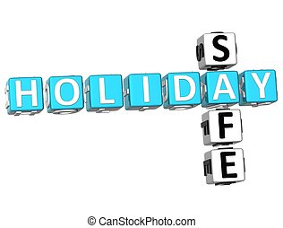 3D Holiday Safe Crossword