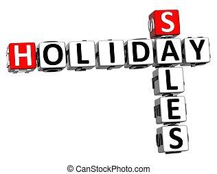 3D Holiday Sales Crossword