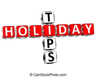 3D Holiday Tips Crossword