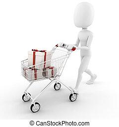 3d, hombre, compra, algunos, presentes
