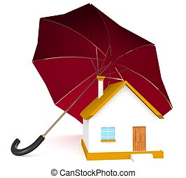 3d Home security concept