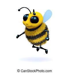 3d Honey bee - 3d render of a honey bee