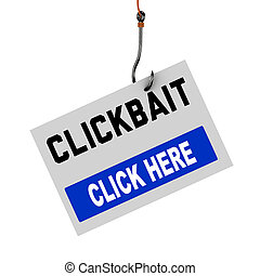 3d hook concept of clickbait