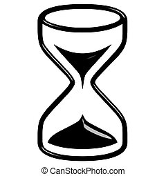 3D Hour Glass - 3d hour glass isolated in white