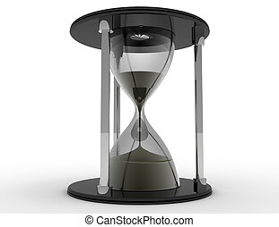 3d hourglass. time concept on white background