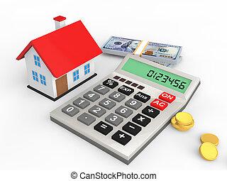 3d house budget concept