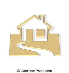 house icon - 3d house icon - computer generated clipart