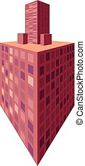 3d house in perspective. City home vector