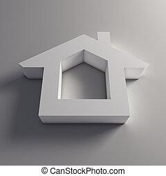 3D house logo