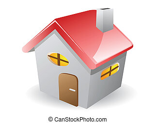3d house on white background