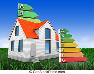 3d house with energy rating