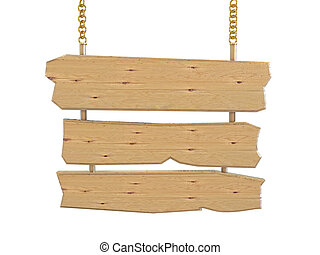 3d, houten, meldingsbord, board-isolated