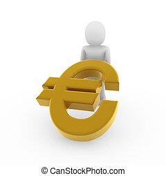3d, humain, euro