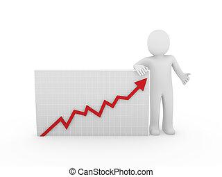 3d human arrow growth