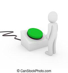 3d human button