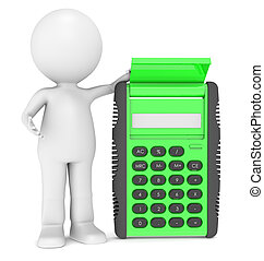 3d human character with a Calculator - 3d human character...