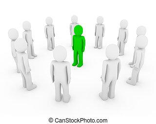 3d human circle green