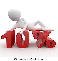3d human lying in 10 percent