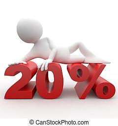 3d human lying in 20 percent