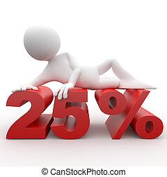 3d human lying in 25 percent
