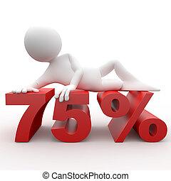 3d human lying in 75 percent