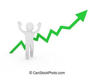 3d human man green graph