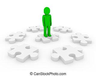 3d human puzzle circle