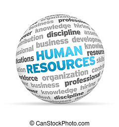Human Resources - 3d Human Resources Word Sphere on white...