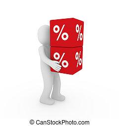 3d human sale cube - 3d human red sale cube success percent...