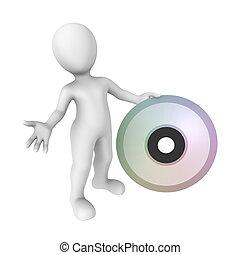 3d human with big cd
