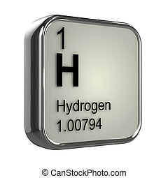 3d Hydrogen element - 3d render of the hydrogen element from...