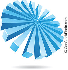 3d Ice Blue Abstract Icon