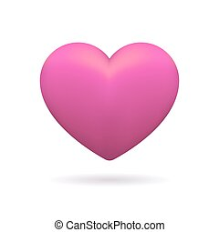 3D icon of pink heart