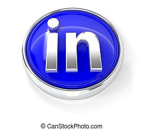 3D icon on glossy blue round button