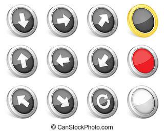 3d icons arrows