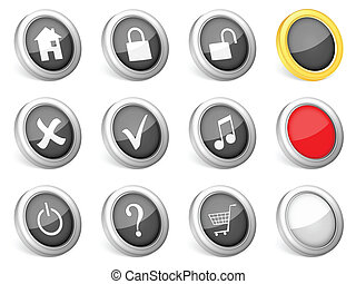 3d icons computer symbol