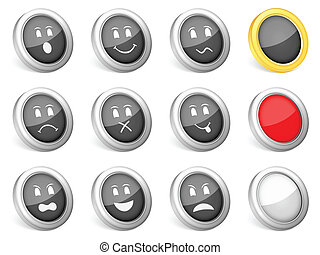 3d icons emoticons