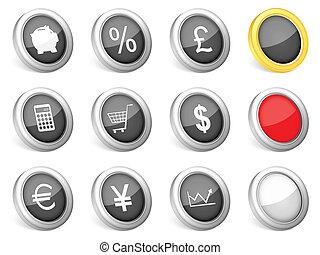 3d icons finances