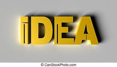 3D Idea Gold Text