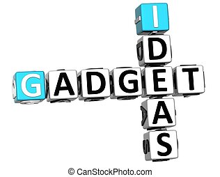 3D Ideas Gadget text Crossword