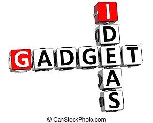 3D Ideas Gadget text Crossword