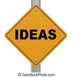 3d, idee, segno strada