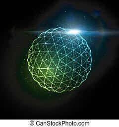 3D illuminated sphere