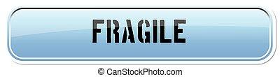 3d Illustrated Rectangular Button for Web or Application - Fragi