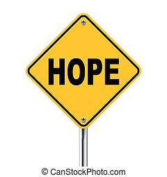 3d, illustratie, van, gele, roadsign, van, hoop