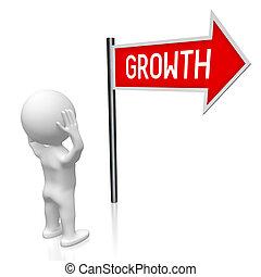 3D illustration/ 3D rendering - growth signpost