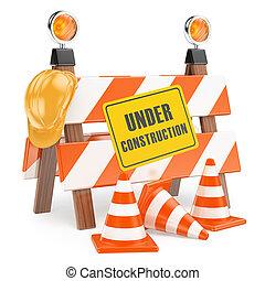 3D Under construction fence