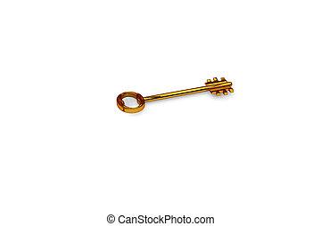 3d illustration a key