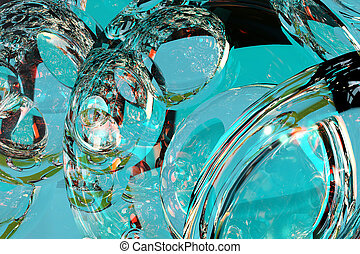 3d illustration abstract glass background texture with color reflection fire and gold