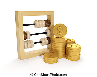 3d illustration: Accounting. The accounts and the group of ...